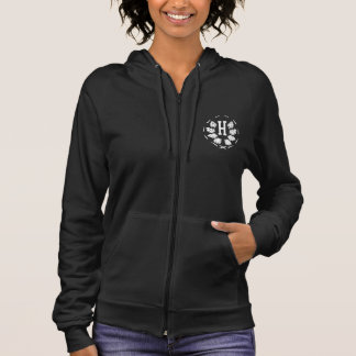 Hashletics women's sleeveless hoodie - back/green