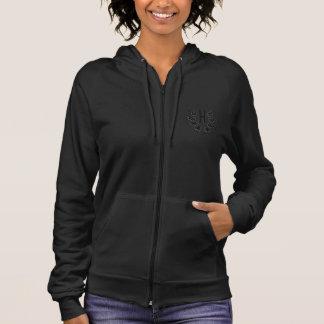Hashletics women's sleeveless hoodie - grey/pink
