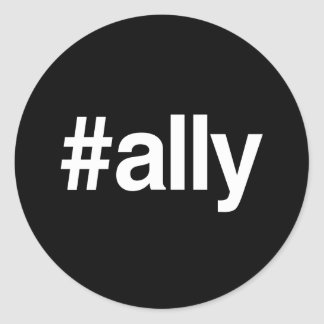 HASHTAG ALLY ROUND STICKERS