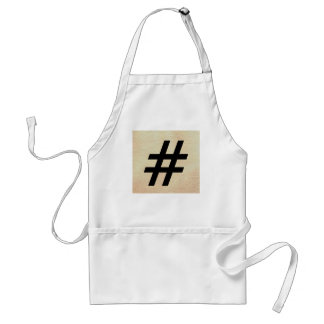 Hashtag Apron - The World With Only Words Standard Apron