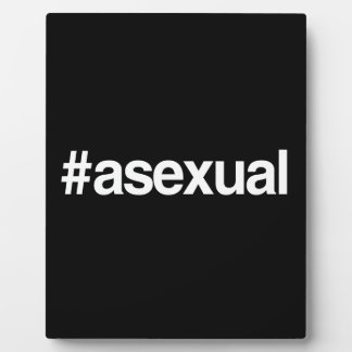 HASHTAG ASEXUAL PHOTO PLAQUES