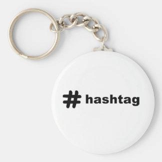 # hashtag basic round button keychain