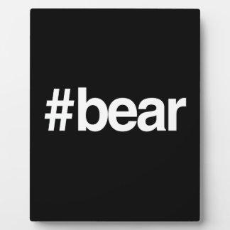 HASHTAG BEAR DISPLAY PLAQUES
