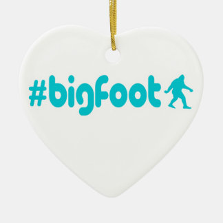 Hashtag Bigfoot Ceramic Ornament