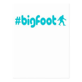 Hashtag Bigfoot Tarjetas Postales
