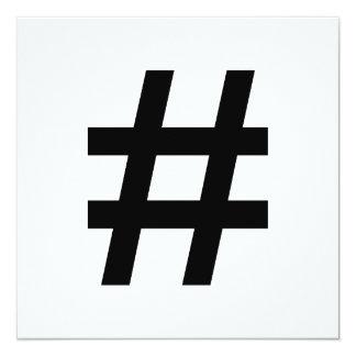 #HASHTAG - Black Hash Tag Symbol Card