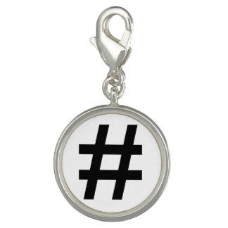 #HASHTAG - Black Hash Tag Symbol Charms