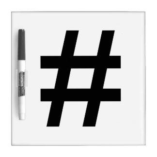 #HASHTAG - Black Hash Tag Symbol Dry Erase Board