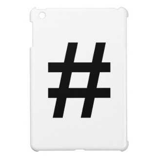 #HASHTAG - Black Hash Tag Symbol iPad Mini Covers