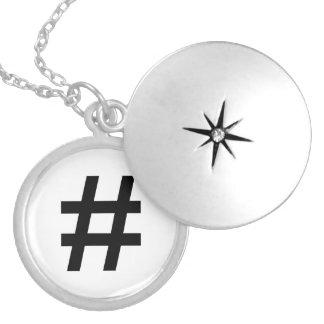 #HASHTAG - Black Hash Tag Symbol Personalized Necklace