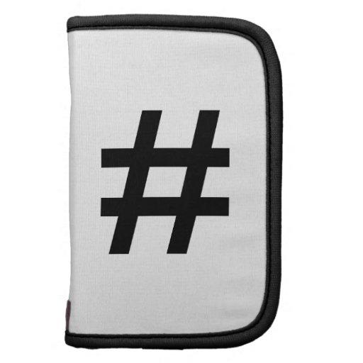 #HASHTAG - Black Hash Tag Symbol Planners