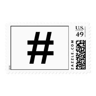 #HASHTAG - Black Hash Tag Symbol Stamp