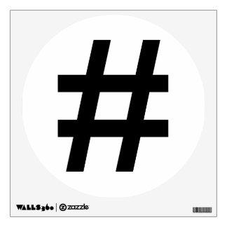 #HASHTAG - Black Hash Tag Symbol Wall Sticker