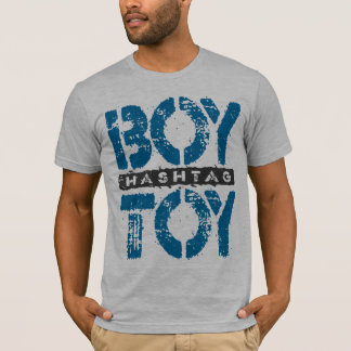 Hashtag BOY TOY - A Lover For Social Sharing, Blue T-Shirt
