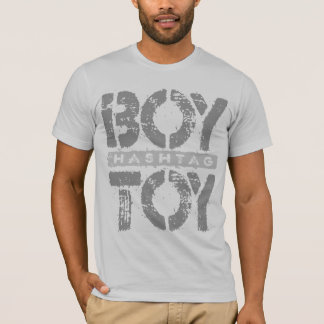 Hashtag BOY TOY - A Lover For Social Sharing, Gray T-Shirt