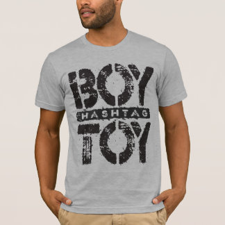 Hashtag BOY TOY - A Lover For Social Sharing, Onyx T-Shirt