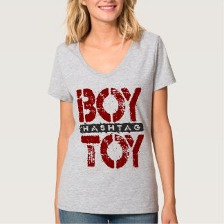 Hashtag BOY TOY - A Lover For Social Sharing, Red T-Shirt