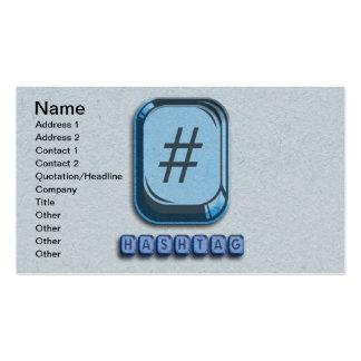 Hashtag Business Card Templates
