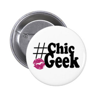 Hashtag Chic Geek Kiss Art Gifts 2 Inch Round Button