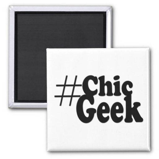 Hashtag Chic Geek Magnet