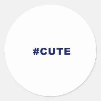Hashtag Cute #cute Classic Round Sticker