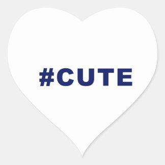Hashtag Cute #cute Heart Sticker