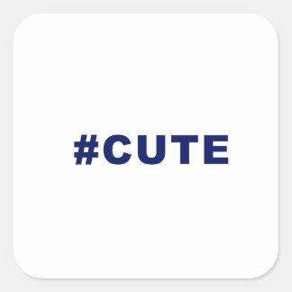 Hashtag Cute #cute Square Sticker