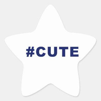 Hashtag Cute #cute Star Sticker