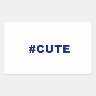 Hashtag Cute cute Rectangular Stickers
