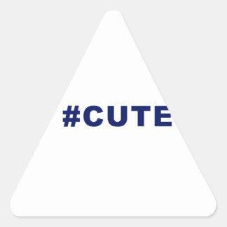 Hashtag Cute #cute Triangle Sticker