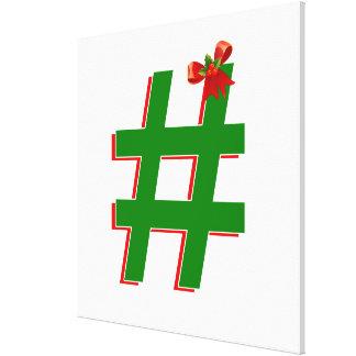 #HASHTAG de los #Christmas - símbolo de la Impresión En Lienzo