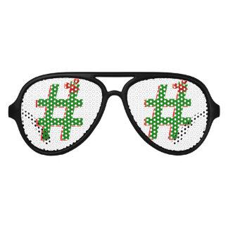 #HASHTAG de los #Christmas - símbolo de la Lentes De Sol