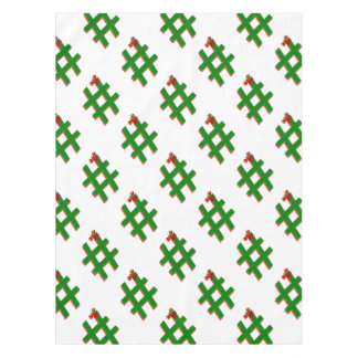 #HASHTAG de los #Christmas - símbolo de la Mantel De Tela