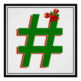 #HASHTAG de los #Christmas - símbolo de la Perfect Poster