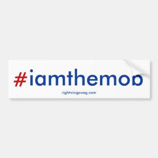 hashtag del #iamthemob pegatina de parachoque
