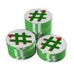 #HASHTAG del navidad - símbolo de la etiqueta del Juego De Fichas De Póquer