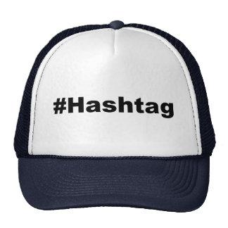 Hashtag divertido gorros