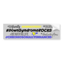 hashtag down syndrom bumper sticker