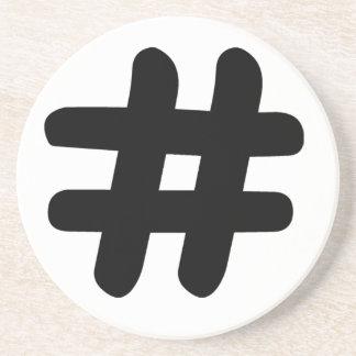 Hashtag Drink Coaster