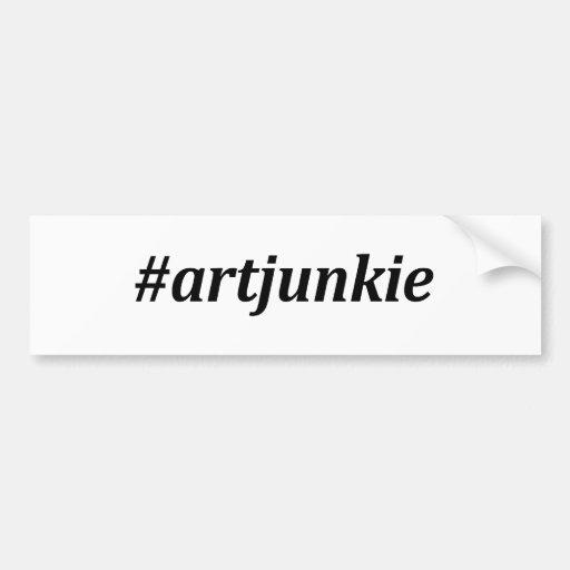 Hashtag - drogadicto del arte pegatina de parachoque