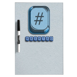 Hashtag Dry-Erase Boards