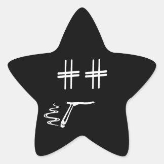 # Hashtag Dude Cartoon Face ANY COLOR Social Media Star Sticker