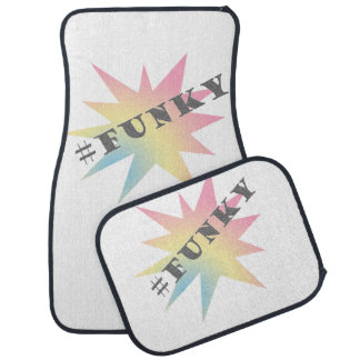 Hashtag Funky star in pastels colors Car Mat