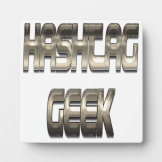 Hashtag Geek Chrome Display Plaques