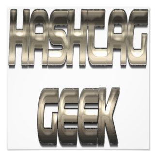 Hashtag Geek Chrome Art Photo
