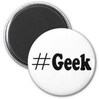 Hashtag Geek Funny Magnet