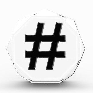 #HASHTAG - Hash Tag Symbol Acrylic Award