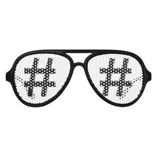 #HASHTAG - Hash Tag Symbol Aviator Sunglasses