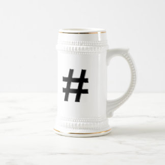 #HASHTAG - Hash Tag Symbol Beer Stein