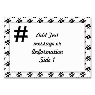 #HASHTAG - Hash Tag Symbol Card